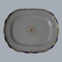 "Copeland Spode, circa 1920-1930, ""Sutherland,"" LARGE Tray Platter, Cobalt Blue & Gold, Bone China"