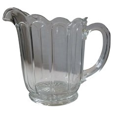 Early Heisey, Imperial Colonial Panel Depression Pressed Glass Pitcher, Clear