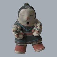 Cochiti, New Mexico, Pueblo Pottery Adobe, Storyteller Figurine, Rufina Trujillo