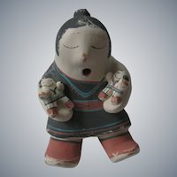 Cochiti, New Mexico, Pueblo Pottery Adobe, Storyteller Figurine, Rufina Trujillo