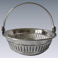 Elegant Silverplate Wine Tasting Cup Basket.  Likely English
