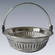 Likely English, Old, Silverplate Wine Tasting Cup Basket