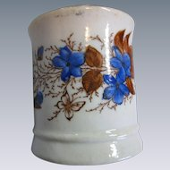 Rare, Ironstone, Transfer Ware, Child's Tea Cup, Tankard, Aesthetic Butterfly & Flowers