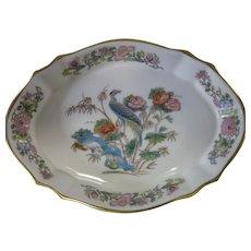 "Vintage, Wedgwood, Bone China, ""Kutani Crane,"" Dish, England, circa 1974"