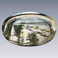 Vintage, Glass Paperweight, Advertising Myrtle Beach, SC, Circa 1940-1950