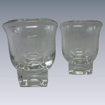 Vintage, 1950's, Cambridge Glass Company Cream & Sugar Set, Glasses, Square Bases