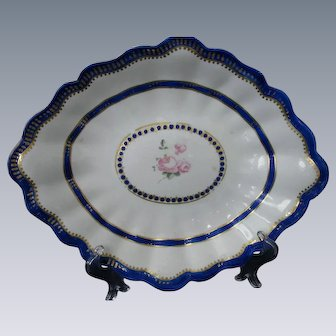 VERY EARLY, Large, Royal Crown Derby, Chelsea , Hand-painted Dish, circa 1775-1784