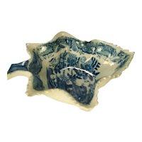 Pearlware Veined Leaf Dish, C 1820
