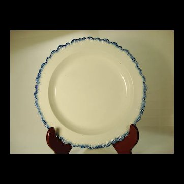 Pearlware Shell Rimmed Plate, 1810's