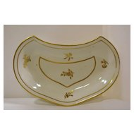 Derby Porcelain Crescent Shaped Dessert/Supper Dish C 1790s