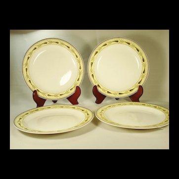 Set of 4 Wedgwood Creamware Plates C 1815