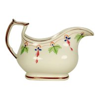 English Porcelain Creamer with Swag Decoration,  1820's