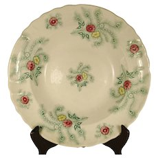 Large Staffordshire Charger or Soup Bowl, C 1830's