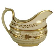 English Porcelain Gilded Creamer, 1820's