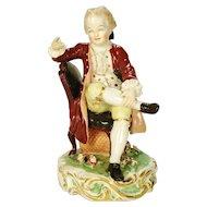 English Porcelain Figurine of Seated Figure, C 1800