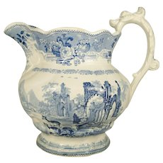 Large Staffordshire Thomas Mayer Pitcher, 1830's