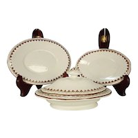 Child's Miniature set of Tureen and Two Platters, Copeland,  1850's