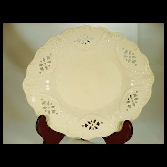 Early Creamware Molded Dish, Early 19th Century