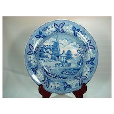 Transfer Printed Pearlware Soup Bowl, 1820's