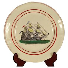 A.Scott Sunderland Nautical Plate, Duke of Wellington-131 Guns, Mid 19th Century