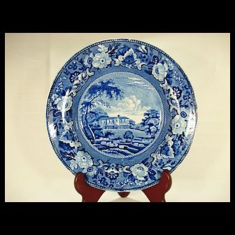 Adams Staffordshire Soup Bowl, Gracefield Queens County Ireland,  1820's