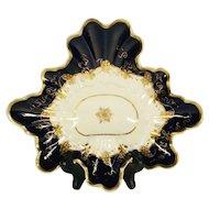 Unusual Porcelain Leaf Shape Desert Dish  C 1800