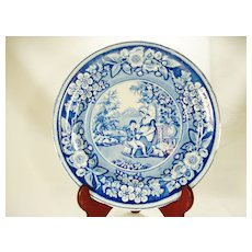 Staffordshire Transfer Printed Plate, Blind Boy, 1820's to 1830