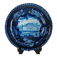 Staffordshire Blue Printed Plate, Marine Hospital, 1820's