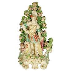 English Porcelain Figurine of Noble Warrior, 19th Century