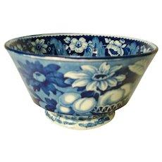 Staffordshire Blue Transfer Printed Waste Bowl, 1820's