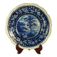 Antique Stevenson American Scene Plate