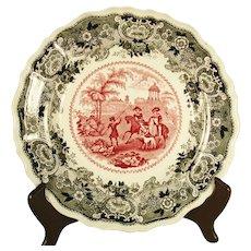 Adams Bi-Color Transfer printer Plate, 1830's