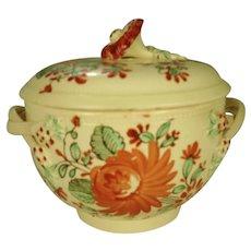 Creamware Sugar and Cover, Leeds Type, C 1780
