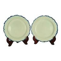 Pair of Pearlware Leeds Type Plates, 1800-1810