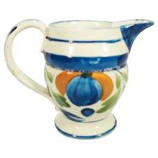Pearlware Creamer in Pratt Colors, C 1815