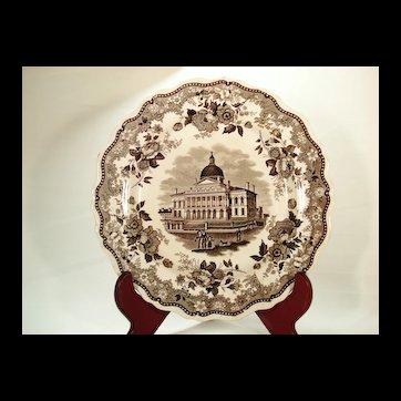 Boston Statehouse Printed Plate, Jackson, 1831-35