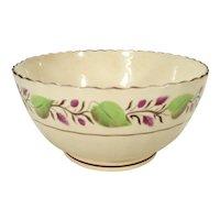 Creamware Fluted Wastebowl, C 1815