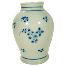 Pearlware Small Vase or Tea Canister, C 1810