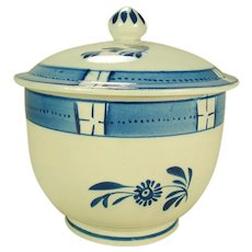 Pearlware Sugar and Cover,  C 1820