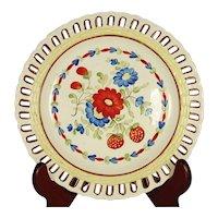 Creamware Reticulated Plate C1815-1825