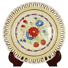 Creamware Reticulated Plate C1815-1825