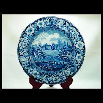 Stevenson Pearlware Soup Bowl, writtle Lodge, Essex, 1820's