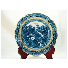 Caughley English Porcelain Plate, 1780's
