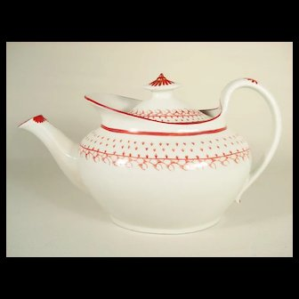 New Hall English Porcelain Teapot, Pattern 783
