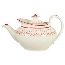 New Hall English Porcelain Teapot, Pattern 783