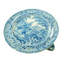 Staffordshire Blue Printed Warming Dish, Mason, C 1830