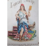 Loyal Soap Allison Brothers Miss Columbia trade card 1880's-90s