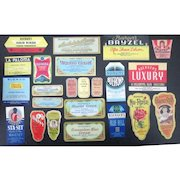 Perfume and Beauty product Art Deco style 53 different mint unused labels 1930s