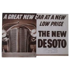 DeSoto 1936 original automobile dealers catalog