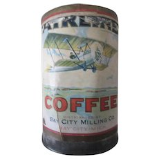 Vintage advertising Airline Coffee Tin early airplane graphics circa 1910-20's